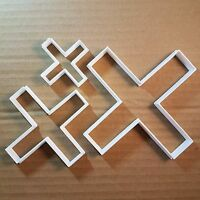 Cross X Times Symbol Math Shape Cookie Cutter Dough Biscuit Pastry Fondant Sharp