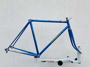 SOMEC ? FRAME 53,5cm / blue / drilled / 2600g / 126mm / vintage roadbike eroica