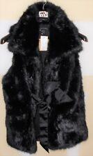 "Steve Madden Size M ""Java"" Faux Fur Brown Tie Vest NWT retail $168 (LC5)"
