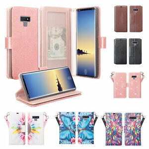 Samsung Galaxy Note 9 Note 8 Cute Wallet Flip Kickstand Phone Case Cover