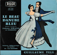 "JEAN MARTINON, STRAUSS ""LE BEAU DANUBE BLEU"" 60'S LP DECCA LXT 5149"