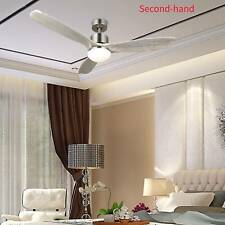Secondhand 52� Ceiling Fan Light Brushed Nickel Finish w/ 3 White Walnut Blades