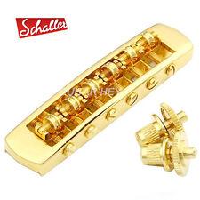 NEW - Schaller STM Roller Tunematic Adjustable String Spacing Les Paul - GOLD