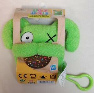 UGLY DOLLS - *New* Green Plush Novelty Funny Creature Key Chain Ring Hasbro