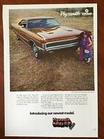 Vintage 1970 Original Print Ad PLYMOUTH SPORT FURY GT ~new wide stance~