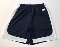 New Balance Lacrosse Shorts LAX Mens Large Navy Blue White Crossfit Gym Shorts