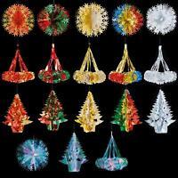 SET of 3 Christmas Foil Ceiling Decoration Hanging 30cm-40cm - Choose Colour