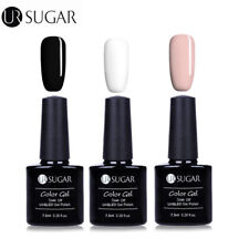3 Bottles UV Gel Nail Polish Soak Off Gel Nails  Black White  Gel