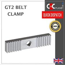 GT2 Belt Clamp for Open length Timing Belt Pitch 2mm Aluminium toothed CNC 3D