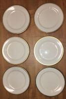 """Noritake Ivory China VICEROY 8 1/4"""" Salad Plates Set of 6"""