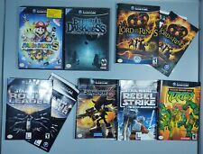 Lot of Nintendo Gamecube Cases Inserts and Manuals Eternal Darkness Mario Party