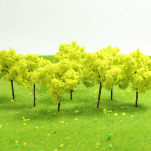 R7035 20pcs Train Layout Set Model Trees Scale N HO 7cm Diorama