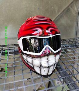 CUSTOM SMILEY FACE MOTORCYCLE HELMET