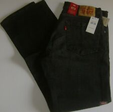 NWT MEN'S 513 LEVI JEANS.BLACK. STRETCH. SLIM STRAIGHT. CHOOSE SIZE. #085130704.