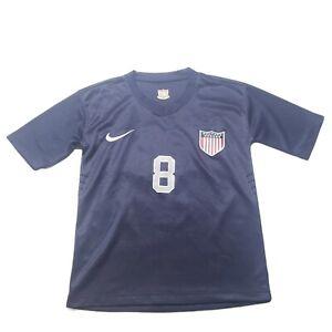 Clint Dempsey #8 USA USMNT Nike Dri Fit Soccer Jersey Boy's Size L* Navy Blue