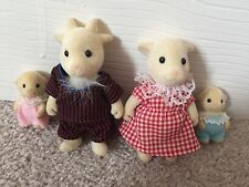 Sylvanian Families Vintage Nettlefield Family & Babies Goat Family