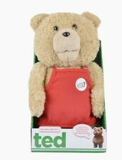 Ted 16-Inch R-Rated Talking Plush Teddy Bear in Red Apron free P&P