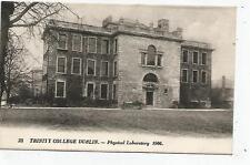 irish postcard ireland dublin trinity college physical laboratory
