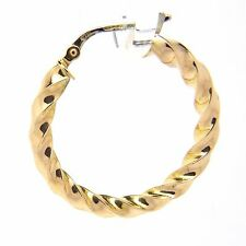 9ct Yellow Gold Fancy Hoop Earrings - 30mm