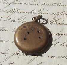 Antique French Swiss Made watch Case fob case small locket NV double gold