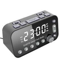 Funk DAB+Radiowecker Tischuhr FM UKW Uhrenradio mit 2x Alarm 2USB LED Projektion