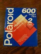 Polaroid 600 Instant Film 2 Pack / 20 Photos Expired 08/1997 HIGH DEFINITION