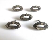 5 vintage italian furniture handles. 5 maniglie antiche in metallo per mobili.