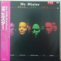 MR.MISTER I WEAR THE FACE RCA RPL-8247 Japan OBI PROMO VINYL LP