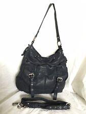 Blue GENUINE LEATHER Hobo/Cross Body/Shoulder Bag / Handbag