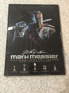 Mark Messier MVP Autographed Framed Louisville Poster Artwork Signed NHL Rare