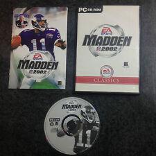 VIDEOGIOCO PC MADDEN NFL 2002 PAL  *COME NUOVO*
