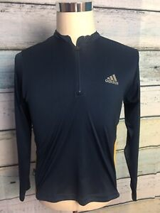 Adidas Climalite Pull Over 3/4 Zip Size L Lightweight Check Measurement