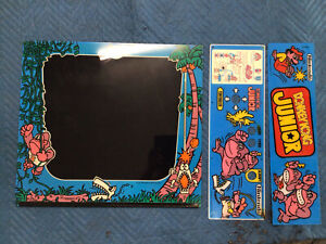 Donkey Kong Jr. bezel, marquee and control panel overlay