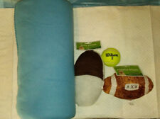Bundle of joy for pet includes blue blanket and 3 toys