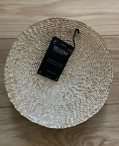 HI-LUXE made in Turkey Genuine Sliver and Glass Bowl NWT