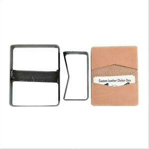 Card Holder / Bi- fold Wallet Cutting Clicker Die 2 Pcs MADE IN USA Leather