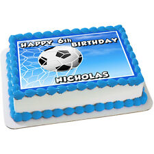 Soccer Ball Edible Icing Cake Image A4 Personalised Party Decoration Topper