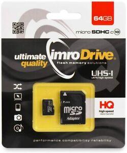 64GB SDXC Micro SD Karte IMRO - Class Klasse 10 mikro Adapter Card UHS-I 64 GB