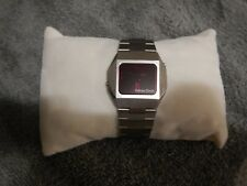 Vintage Compu Chron  Red  LED  Mens Watch Working CONDITION NEW BATTERYS