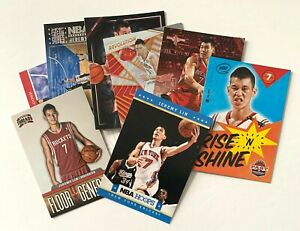 Jeremy Lin lot of 8 with inserts, premium cards Rockets, Lakers, Knicks, Harvard