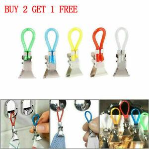 5PCS Tea Towel Hanging Clips Metal Clip on Hooks Loops Hand for Kitchen Bathroom
