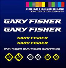 KIT - PEGATINAS - STICKERS - VINILO -LAMINA-PACK- BICICLETA - BIKE - GARY FISHER