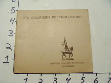 Vintage Travel Paper: 6 Coloured Reproductions NATIONAL GALLERY OF VICTORIA