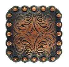 "Western Decor Tack Black Copper Engraved (6) 1 3/8"" Conchos"