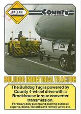 HALLAM COUNTY BULLDOG TUG INDUSTRIAL TRACTOR BROCHURE - BX111