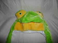 "Whimsical Frog Hat Bonnet Plush Soft Toy Stuffed Animal 17"""
