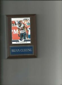 BRIAN CUSHING PLAQUE HOUSTON TEXANS FOOTBALL NFL   C3