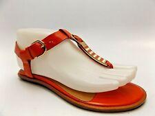 94a01e0cb5e0 AERIN SWIFT ORANGE Patent Womens Shoes T Strap Thong Flat Sandals SZ 5.0 M -3529