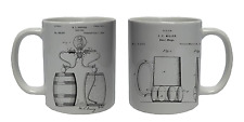 BEER PUMP STEIN Coffee Mug Tea Cup Ceramic Patent Design Novelty Gift