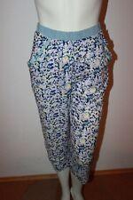 Triumph Pyjamahose Bee Dees Summer Heart 144 PW Gr.40 blau geblümt sehr leicht
